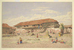 N. front of monastery, Patan (Nepal). July 1855